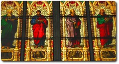Four Evangelists: Matthew, Mark, Luke, and John (oar_square) Tags: john matthew mark luke unescoworldheritagesite klnerdom coloredglass stainedglasswindows newtestament evangelists christianmonument colognedome gothicstructure christianthemes oarsquare mourningwindow