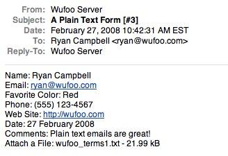 Plain text Emails