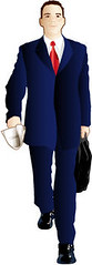 Man Walking - Clipart by clipart.peirceinternet.com