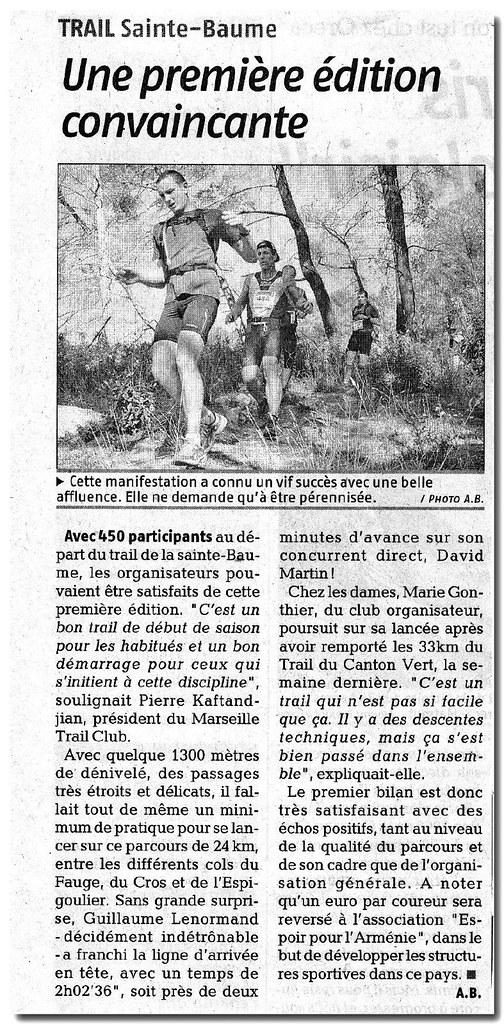 article La Provence_TSB_2008
