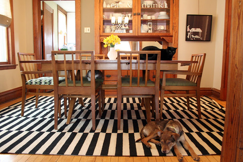Striped Rug in the Dining Room