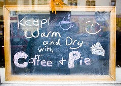 Keep Warm and Dry With Coffee and Pie