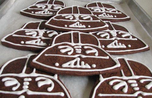 Chocolate Darth Vader cookies
