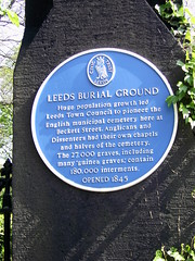 Photo of Burial Ground, Leeds blue plaque