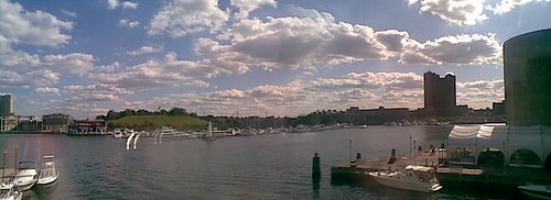 Inner Harbor and Cumulus Sky