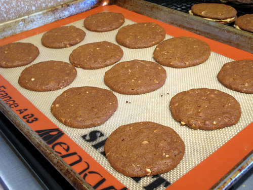 Peanut Butter Cookies with Molasses and Oatmeal