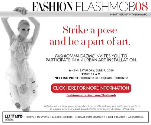fashion flash mob