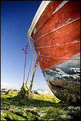 Turning Tide (rob mccoll) Tags: uk vertical outdoors photography day nopeople rope growth transportation weathered decline clearsky moored uncultivated nauticalvessel
