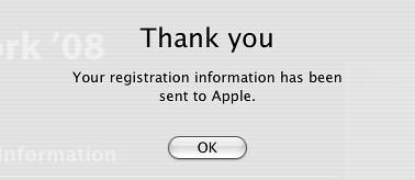 Registration Sent