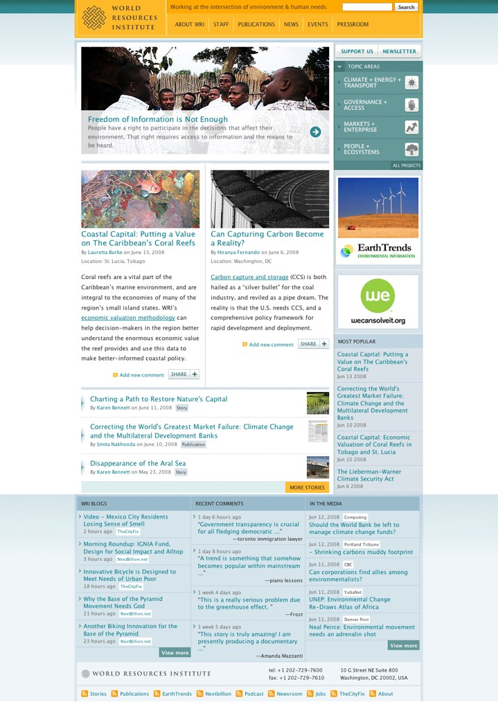 World Resources Institute Redesign Launches