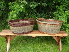 oval laundry baskets (Dunbar Gardens) Tags: washington basket handmade crafts willow laundry baskets weaving basketry skagitvalley panier salix basketmaking basketmakers vannerie willowbaskets dunbargardens katherinelewis