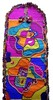 Stained glass top (Karen Cattoire) Tags: original art colorful handmade embroidery originalart creation fabric fiberart patchwork beading textileart tissu abstrait textiledart karencattoire fibretextile arttexilte