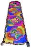 Stained glass (Karen Cattoire) Tags: original art colorful handmade embroidery originalart creation fabric fiberart patchwork beading textileart tissu abstrait textiledart karencattoire fibretextile arttexilte