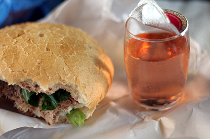 pan bagnat and rosé