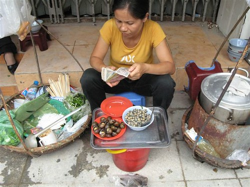 Vietnamese women vendors with their 'yoke'