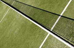 Oblique Tennis (The Green Album) Tags: shadow france net grass lines angle perspective tennis wimbledon tenniscourt fpg aplusphoto obliquamente obliqueminds peachofashot domainedefayence