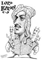 BYRON, Lord (Morales de los Ros) Tags: writers caricaturas philosophers caricatures escritores filsofos
