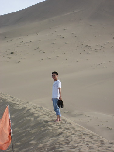 Quan on the top of dune