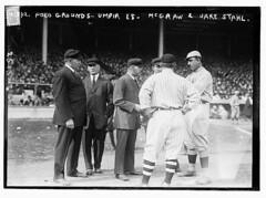 [Umpires with managers John McGraw (back to camera), New York NL, and Jake Stahl, Boston AL, first game of 1912 World Series (baseball)]  (LOC) (The Library of Congress) Tags: al baseball redsox libraryofcongress nl mcgraw bostonredsox umpire stahl umpires americanleague nationalleague johnmcgraw newyorkgiants xmlns:dc=httppurlorgdcelements11 jakestahl 1912worldseries dc:identifier=httphdllocgovlocpnpggbain11501 newyorkbaseballgiants october81912