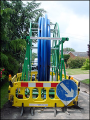 HPPE Coil (Dylan Curtis) Tags: london water main plastic coil enterprise pe utilities polyethylene highperformance tvw threevalleys outerlondon hppe threevalleyswater bariers mainlaying arrowboard