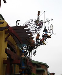 World of Disney (rabbit_mage) Tags: wheel wire disneyland frame mickeymouse airship pluto downtowndisney steampunk