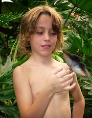 Big Butterfly (rene1956 (Burning the Midnight Lamp)) Tags: boy proud butterfly zoo emmen vlinder trots dierentuin jongen vlindertuin