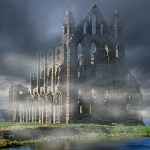 Sea Fret clearing, Whitby Abbey.......
