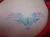 Rainbow Butterfly Airbrush Tattoo