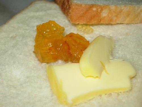 orange marmalade and butter