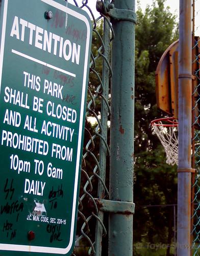 Bayside Park -- no niggers, Nazi graffiti