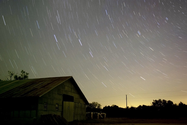 Big Dipper Star Trail at Pedernales