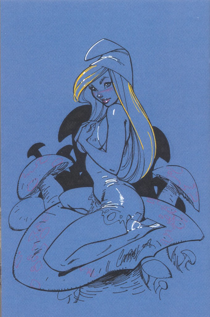 Pitufina (J Scott Campbell Sketchbook, 2008)