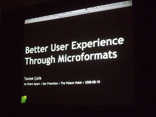 Better User Experience Through Microformats
