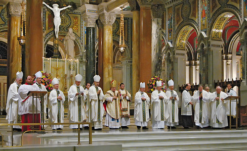 Cathedral Basilica of Saint Louis, in Saint Louis, Missouri, USA - Archbishop Burke Farewell Mass, bishops 2