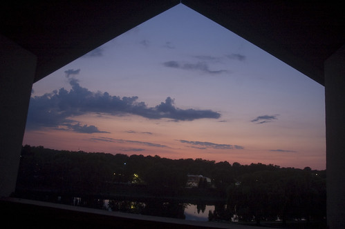 the sunset from our balcony