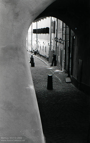 Stockholm old town on Tri-X