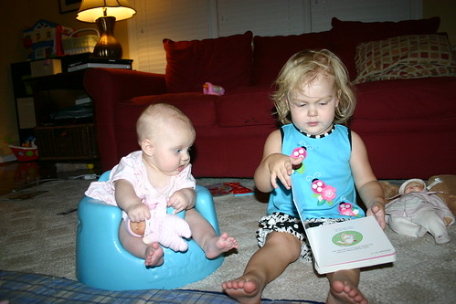 Anna reading to Madelyn