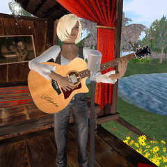 Grace McDunnough plays at the Inside Out Cafe 8-28-2008 (FelineHerdsCats) Tags: secondlife nevi insideoutcafe gracemcdunnough