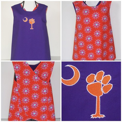 Clemson Pawmetto Reversible Pinafore