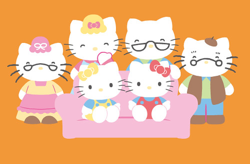 hello kitty family pictures