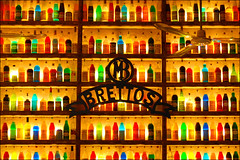 Brettos (II) (MarcelGermain) Tags: light colors sign bar nikon colorful colours bottles drink athens spirits greece liquor alcohol colourful ouzo shelves liquour botellas ampolles d80 brettos marcelgermain