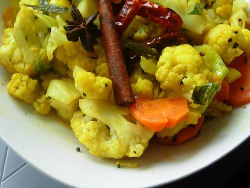 stir fried cauliflower indian style