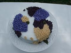 Happy Birthday to Me! (Kim Dever Thibodeaux / Kim_in_CajunCountry) Tags: birthday flowers white cake purple decorating slideshow decorate decorated buttercream kimscrumbs kimdever kimthibodeaux kimdeverthibodeaux photogumbo kimincajuncountry