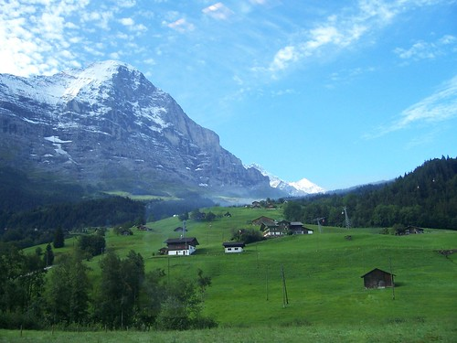 The Eiger range, seen from the train