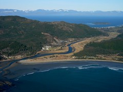 Makah Nation and Waatch River (Sam Beebe) Tags: ocean sea mouth river coast washington pacific olympicpeninsula super aerial olympics neahbay makahnation panoramio makahbay waatchriver