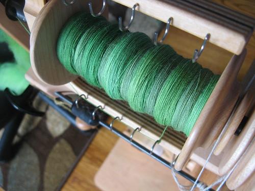 green merino bobbin