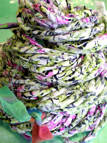 Bohemian Manor Ragamuffin Handspun Rag Yarn (two)