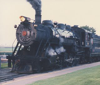Strasburg Railroad 2-10-0 type # 90 at the East Strasburg depot. Strasburg Pennsylvania. August 1990. by Eddie from Chicago