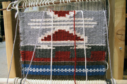Two-sided Navajo rug, front