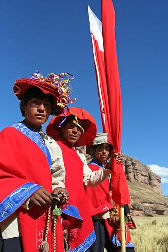 Festival de Tinajani - Flag Dancers Posing